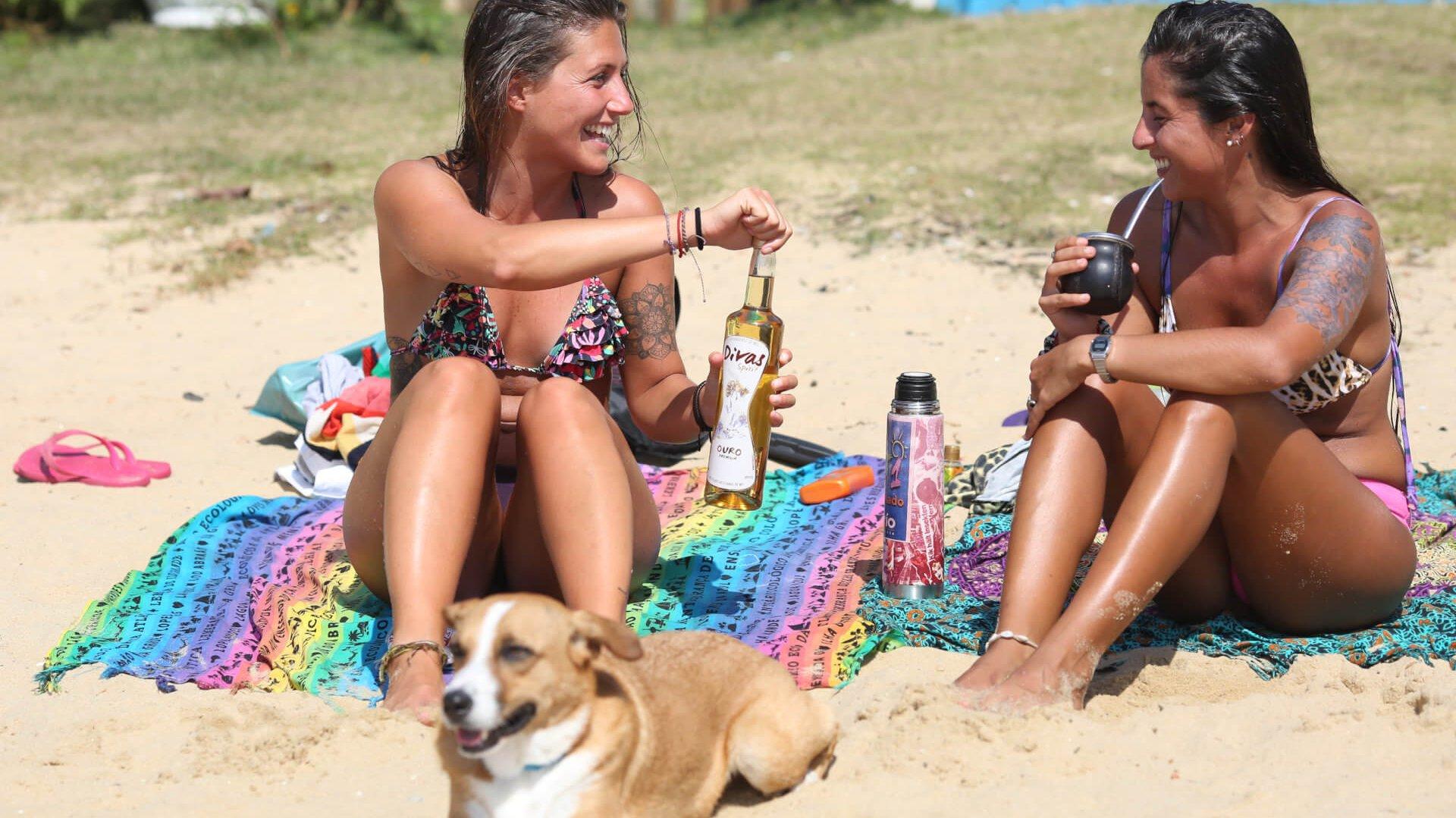 Um brinde na praia
